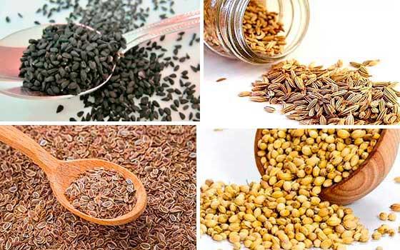 Семена лука, петрушки, укропа и кориандра
