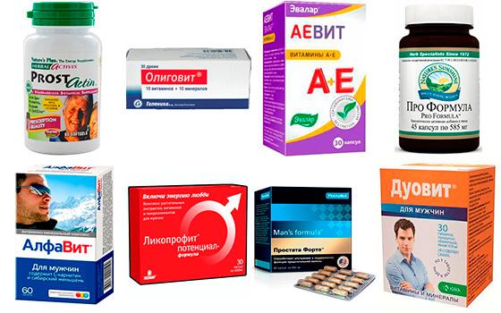 Комплексы витаминов от простатита