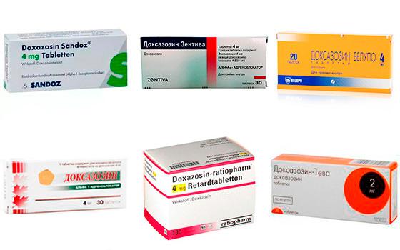 Доксазозин от разных производителей