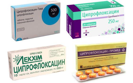 Форма выпуска Ципрофлоксацина